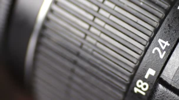 Macro of Camera Lens, zoom, iris, focus ring