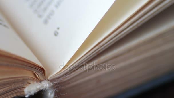 Görgetés egy könyvet a makró