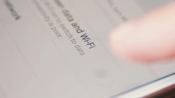 Smartphone WiFi-Anschluss