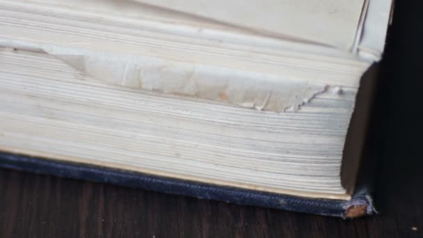 Vintage old book with antique pages turning