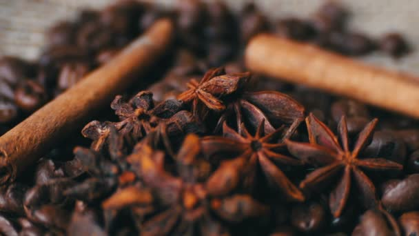 Vértes kávébab ánizs és a fahéjat