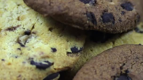 záběry z domácí čokoláda čip cookies