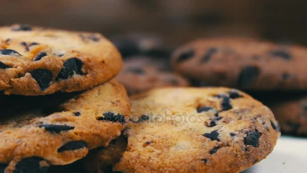 footage of homemade chocolate chip cookies