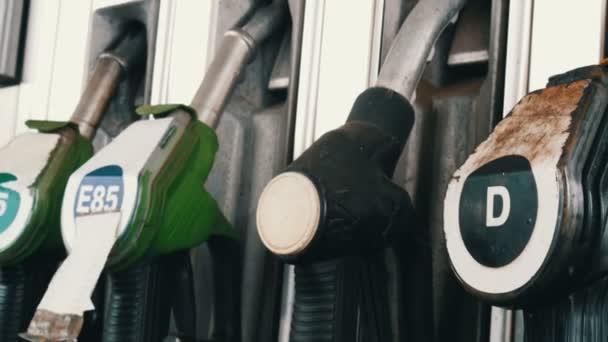 Benzín nebo čerpací stanice plynu palivové čerpadlo tryska zablokuje