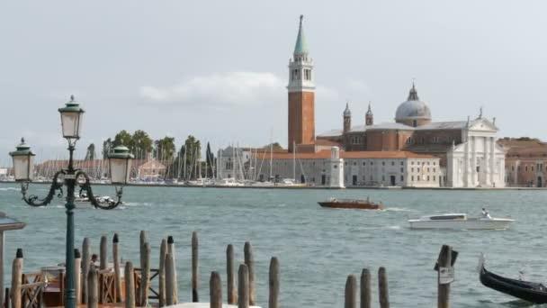 Canal Grandére és katedrális, a San Giorgio Maggiore a sziget a velencei lagúna, a San Giorgio Maggiore