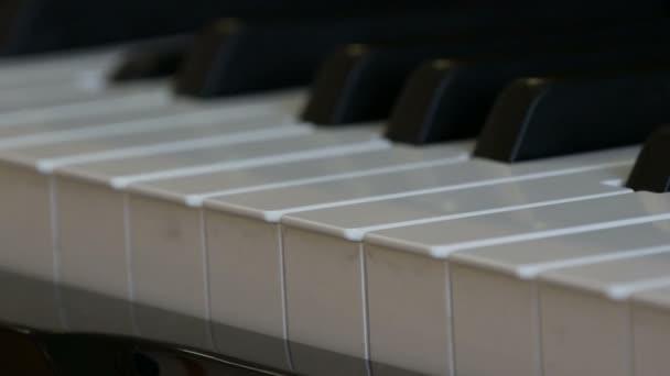 Érdekes misztikus önjátszó zongora. Fekete-fehér zongora billentyűk, hogy játszanak a saját