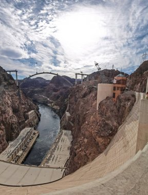 View of the Hoover Dam in Nevada, USA.