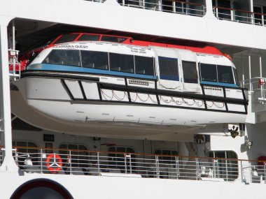 Azamara Quest, tourist liner in the port. Big tourist ship.