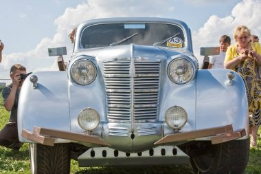 Exhibition of rare and vintage cars. Exclusive car models.