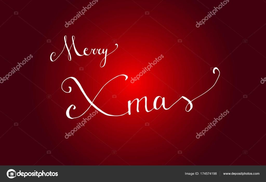 Buon Natale In Inglese.Bandiera Di Buon Natale Tipografica Lettering Buon Natale In