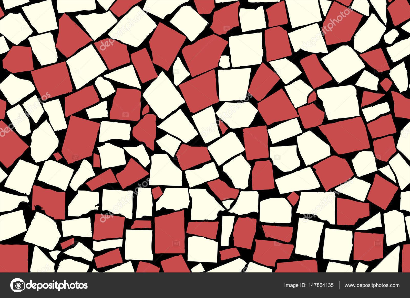 Struttura senza giunte di piastrelle decorative asimmetriche rosse