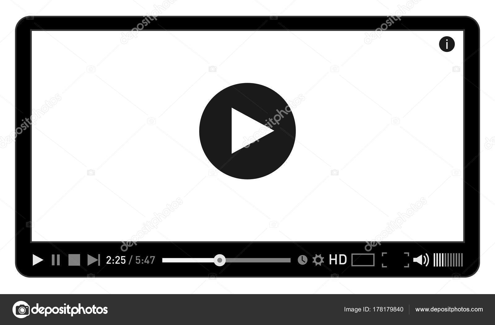 Moderne video-Player-Design-Vorlage für Web und mobile apps flachen ...