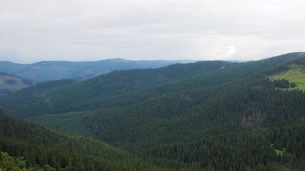 Pohled z horní části Karpat, Chornogora hřbet