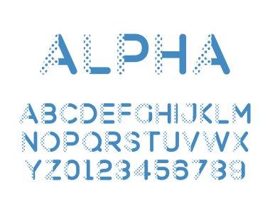 Vector of modern stylized font. Alphebet