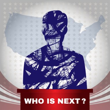 Digital vector usa election with who is next