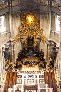 Main altar in basilica st peter in vatican