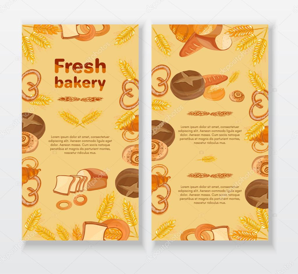 Bakery Cafe Menu Design Template Bread Cake Bakery Products