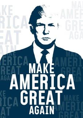 Donald Trump portrait, vector poster
