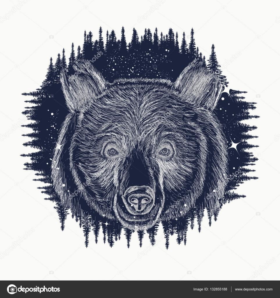Porter L Art Du Tatouage De Symbole Voyages Et De Tourisme Grizzly
