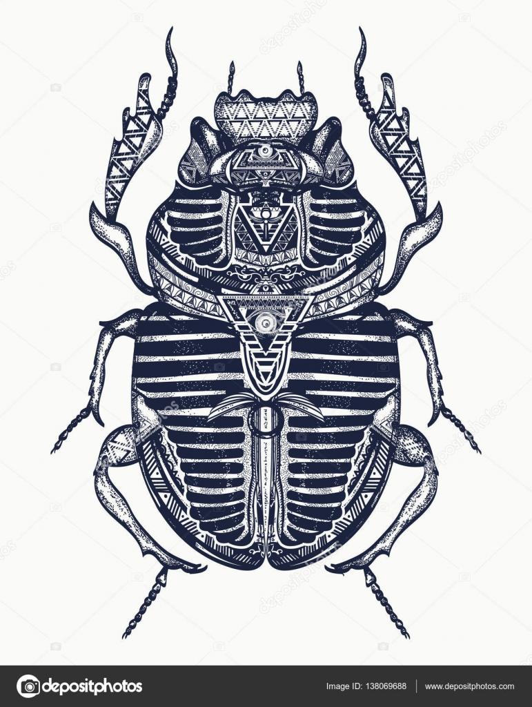 tatouage de scarab e art de l gypte antique pharaon. Black Bedroom Furniture Sets. Home Design Ideas