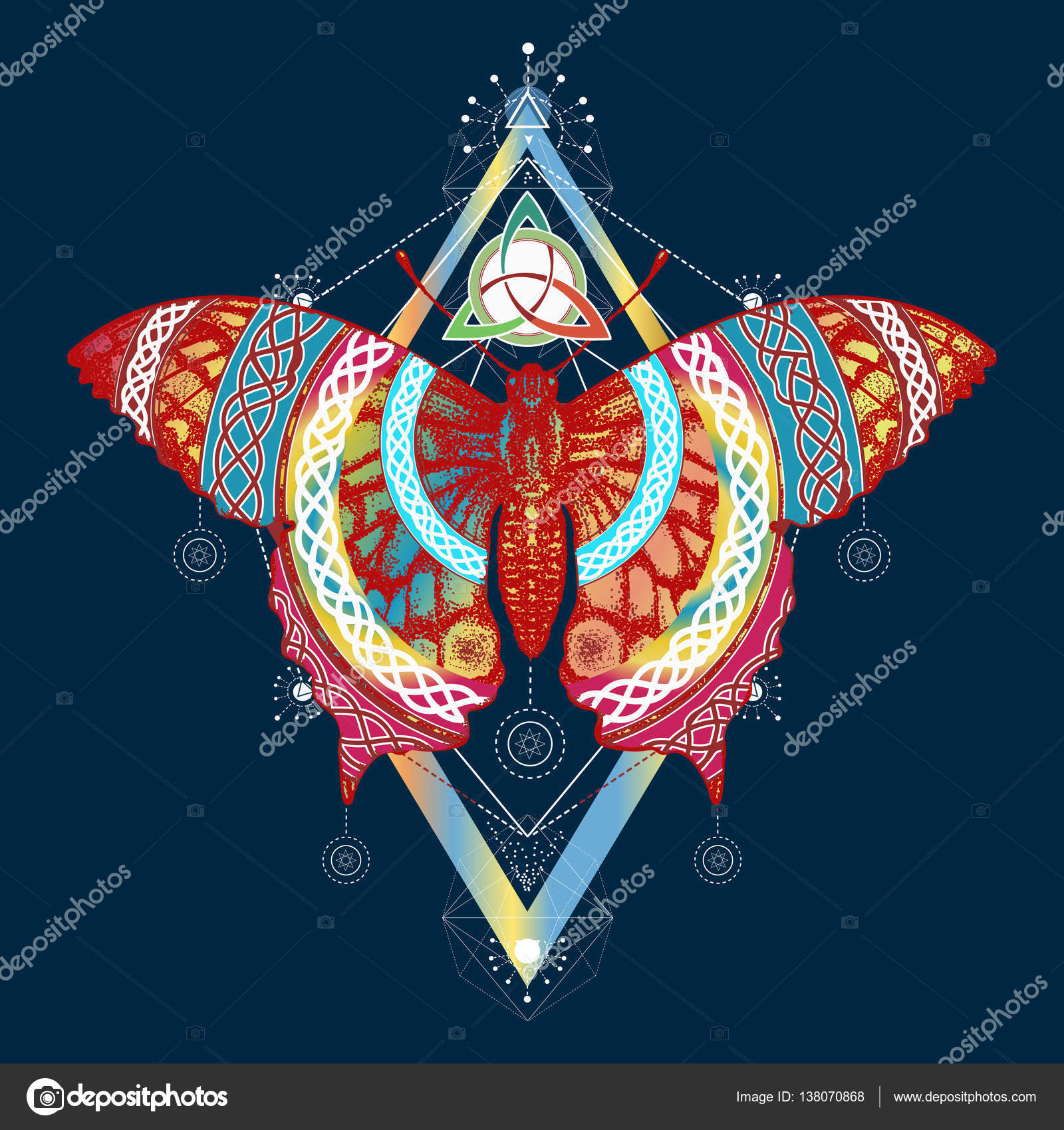 Butterfly t shirt design symbol of freedom travel stock vector butterfly t shirt design symbol of freedom travel beautiful swallowtail butterfly in ethnic celtic style color tattoo vector by intueri biocorpaavc Images