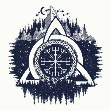 Celtic trinity knot, Helm of Awe, aegishjalmur, tattoo