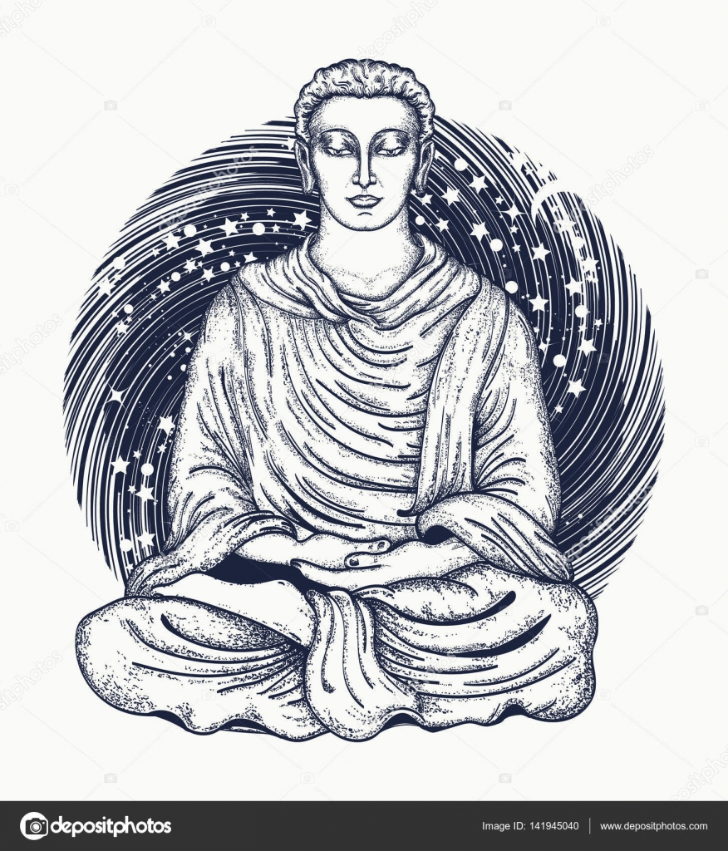 Space buddha tattoo art religious symbol of harmony stock vector space buddha tattoo art religious symbol of harmony stock vector biocorpaavc Images
