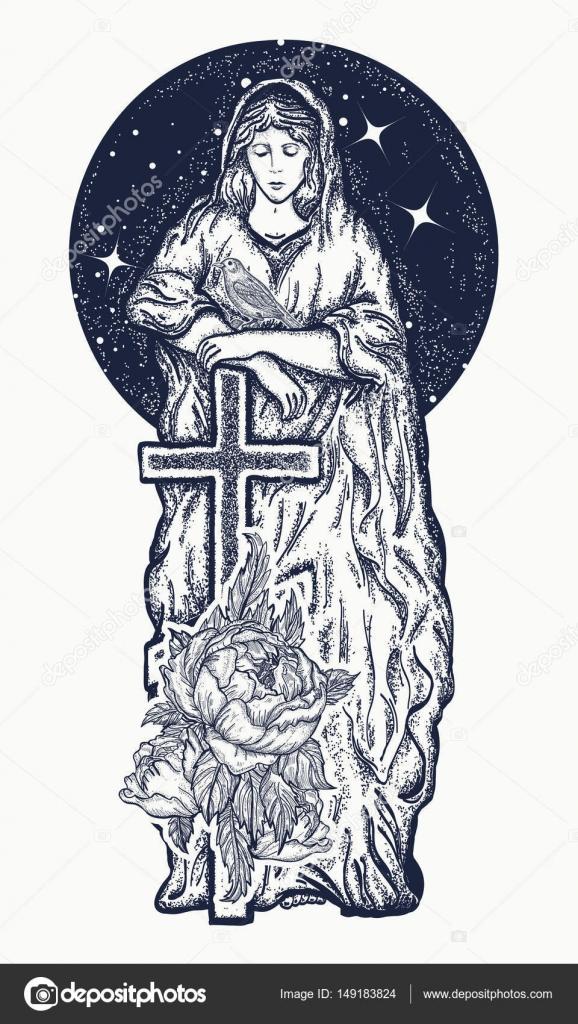 Sztuka Tatuaż Najświętszej Maryi Panny Symbol
