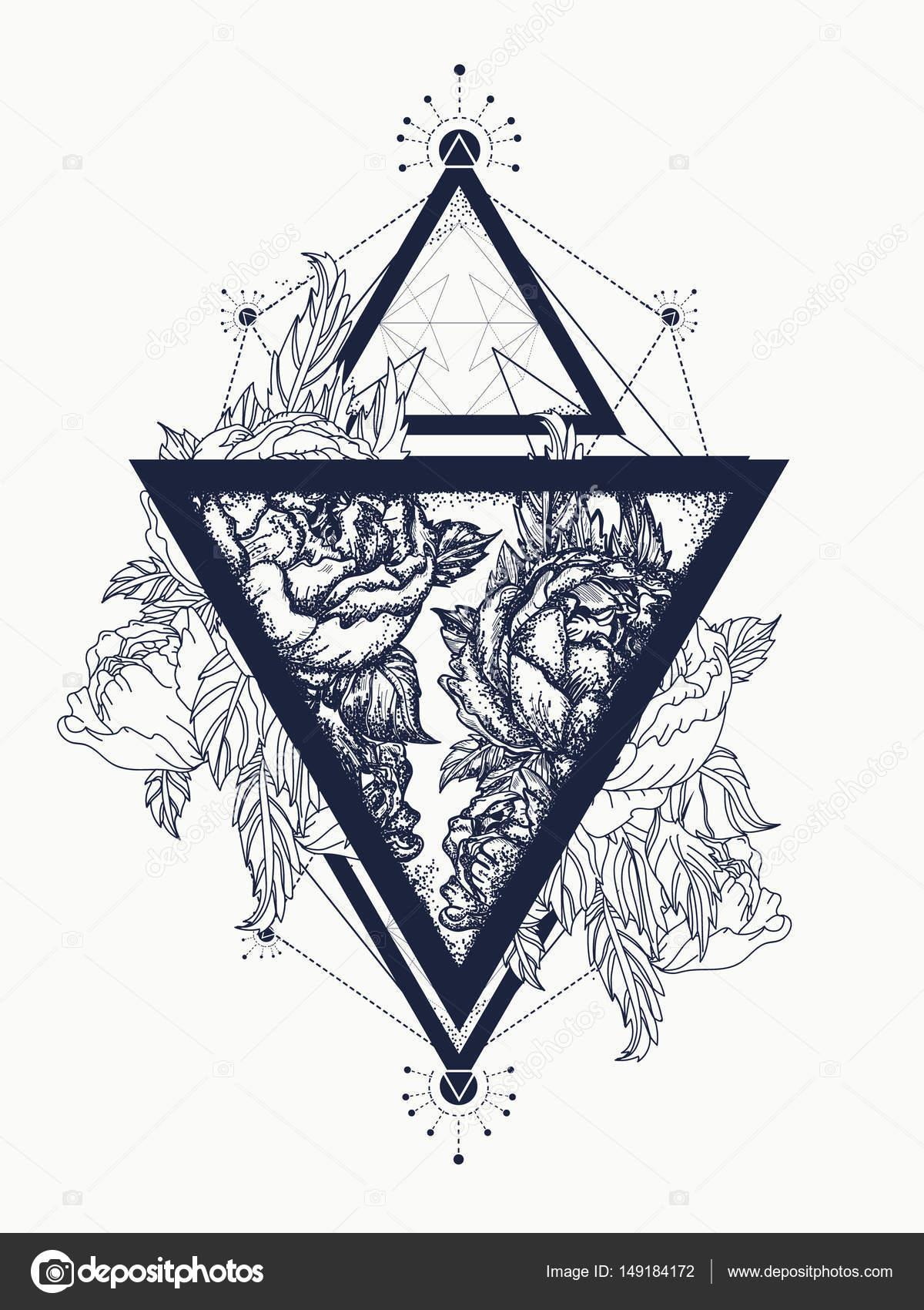 Róże W Trójkącie Sztuki Tatuażu Symbol Wolności Uroda