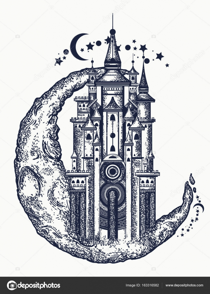 Fairy Tail Symbol Tattoo Medieval Castle On The Moon