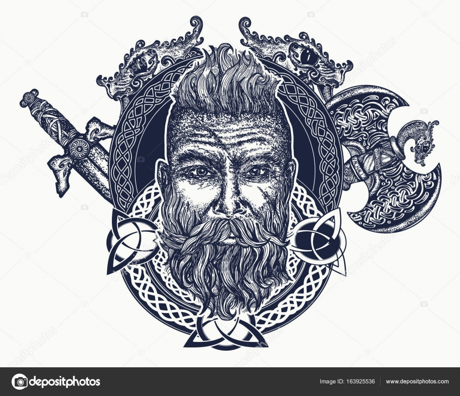 Tatuaje De Vikingo Símbolo De Fuerza Coraje Mitología Nórdica