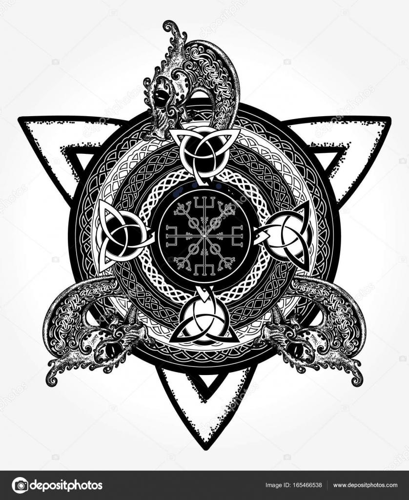 Design Art Et T Shirt Du Tatouage Croix Celtique Heaume De Terreur