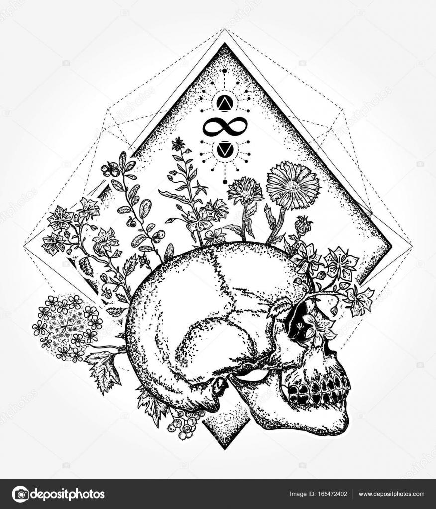 Conception De Tatouage Et T Shirt Crane Magique Crane Humain