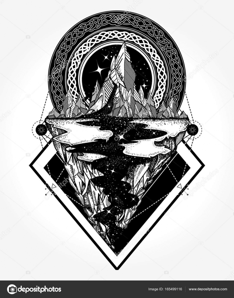 Mountains tattoo and t shirt design adventure travel outdoors mountains tattoo and t shirt design adventure travel outdoors symbol boho style t shirt design star river and mountains tattoo art hipster style biocorpaavc Images