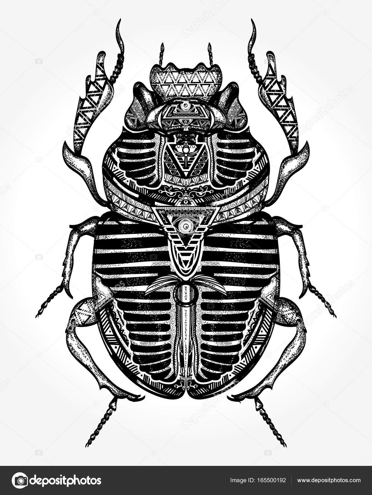 Scarab Tattoo Ancient Egypt Art Egyptian Sacred Bug A Scarab