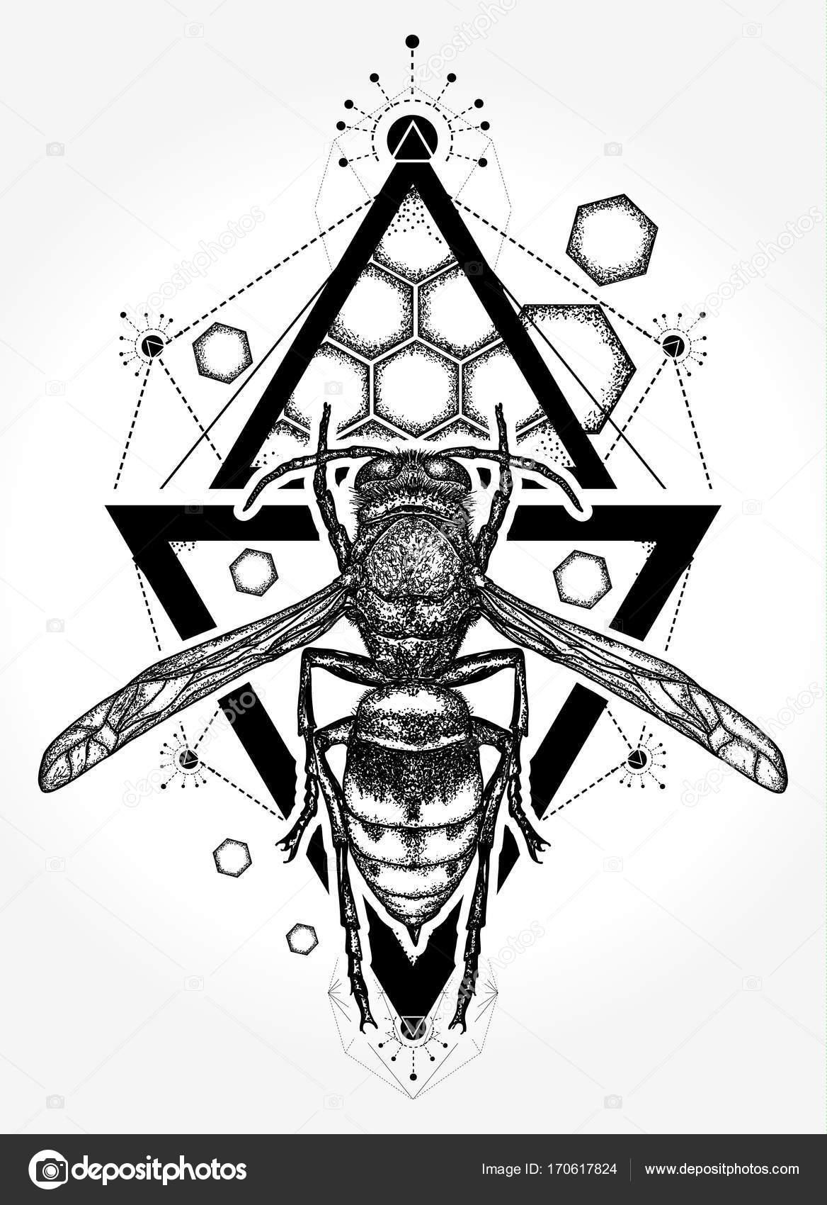 Bee tattoo and t shirt design symbol of freedom flight stock symbol of freedom flight stock vector biocorpaavc