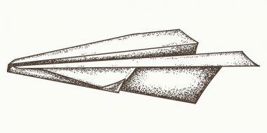 Paper plane hand drawn vector. Paper plane graphic