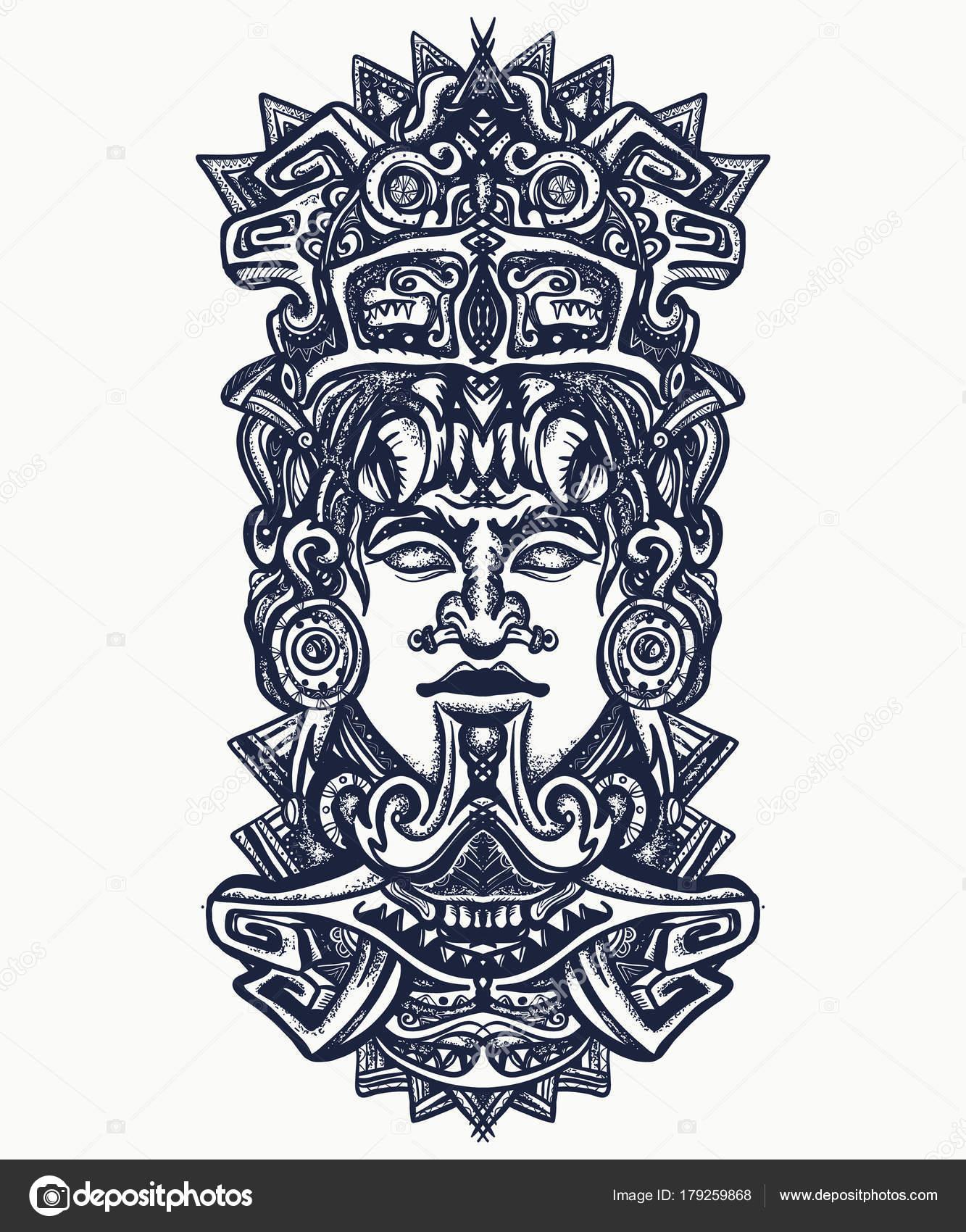 Aztec Temple Tattoo ancient aztec totem   ancient aztec totem mexican god