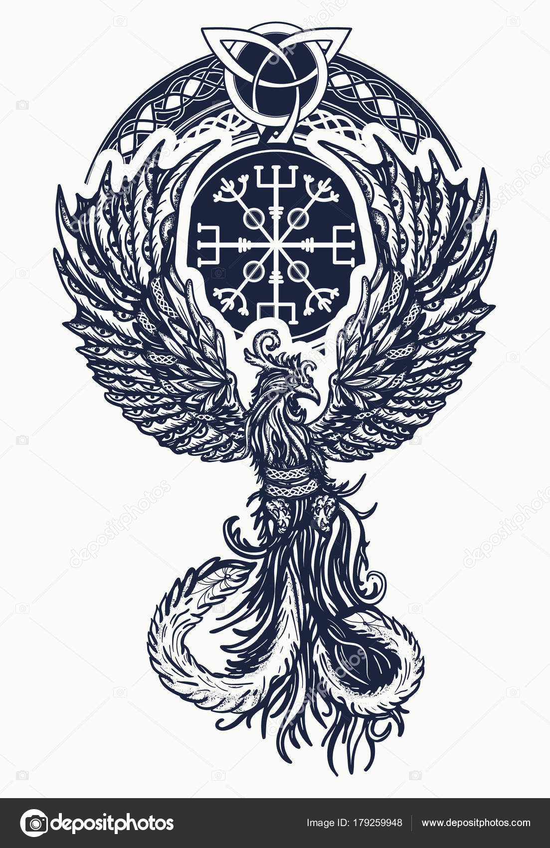 Chaleur Magique Oiseaux Conception Celtique Tatouage Shirt Symbole