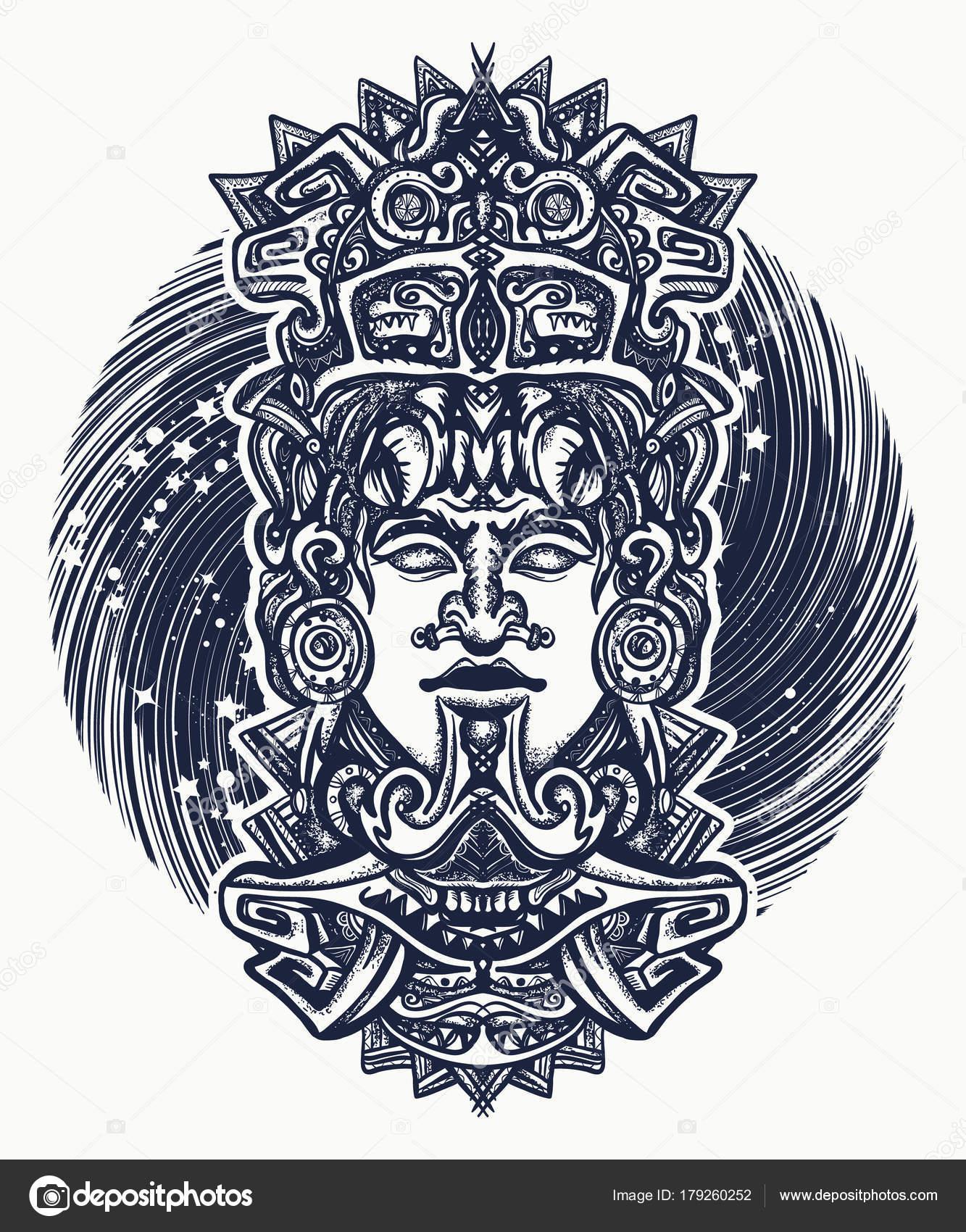 Aztec Mayan Tattoos Mayan Tattoo And T Shirt Design
