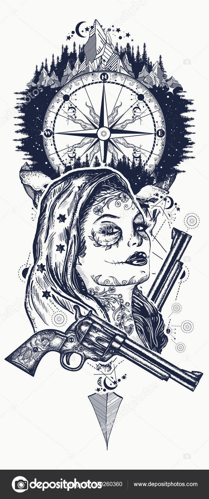 Meksykański Karnego T Shirt I Sztuki Tatuażu Dzikim