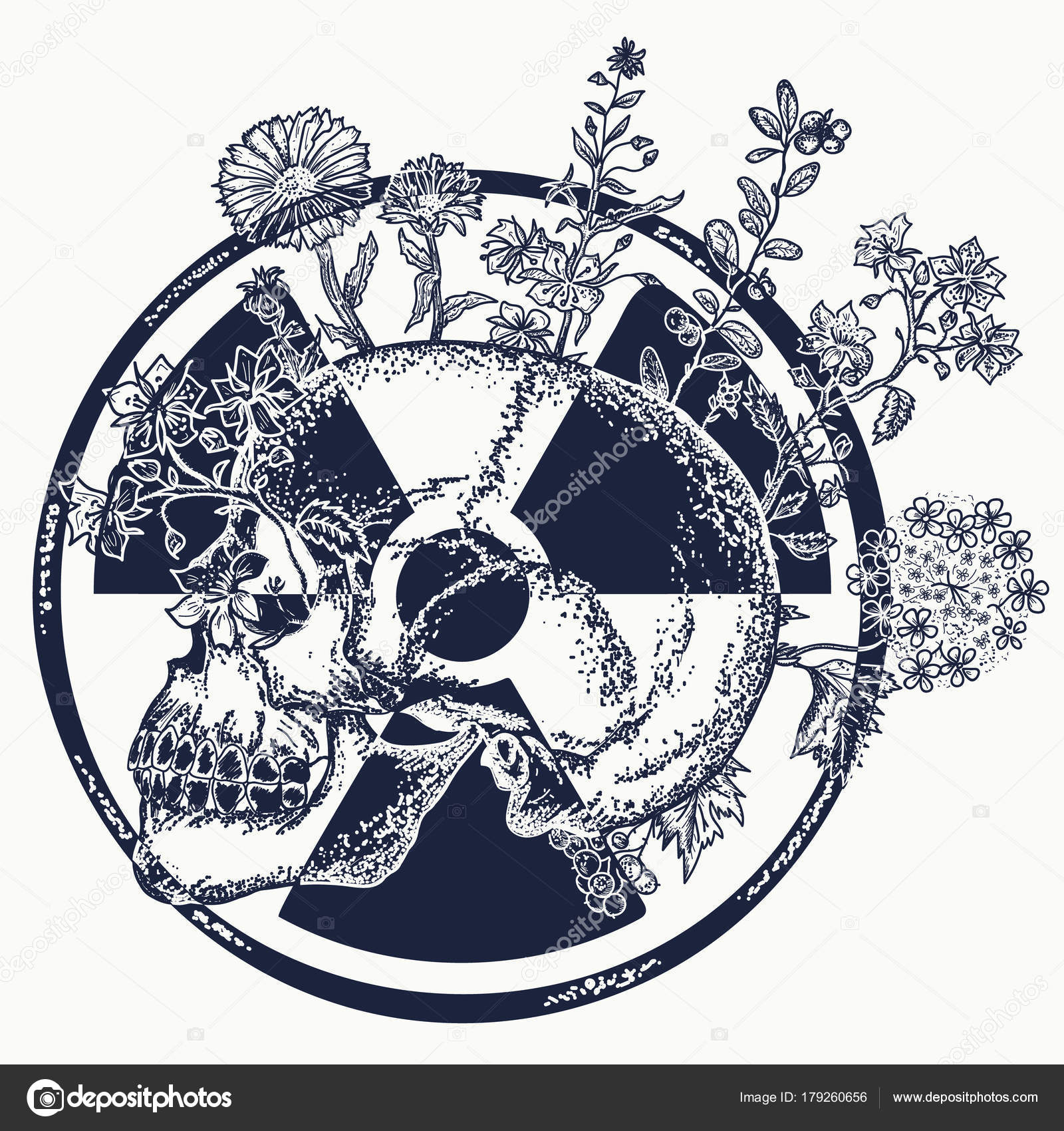Atomic skull tattoo and t shirt design symbol of nuclear war atomic skull tattoo and t shirt design symbol of nuclear war stock vector biocorpaavc Gallery