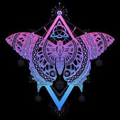 Photo Magic butterfly tattoo and t-shirt design. Butterfly celtic