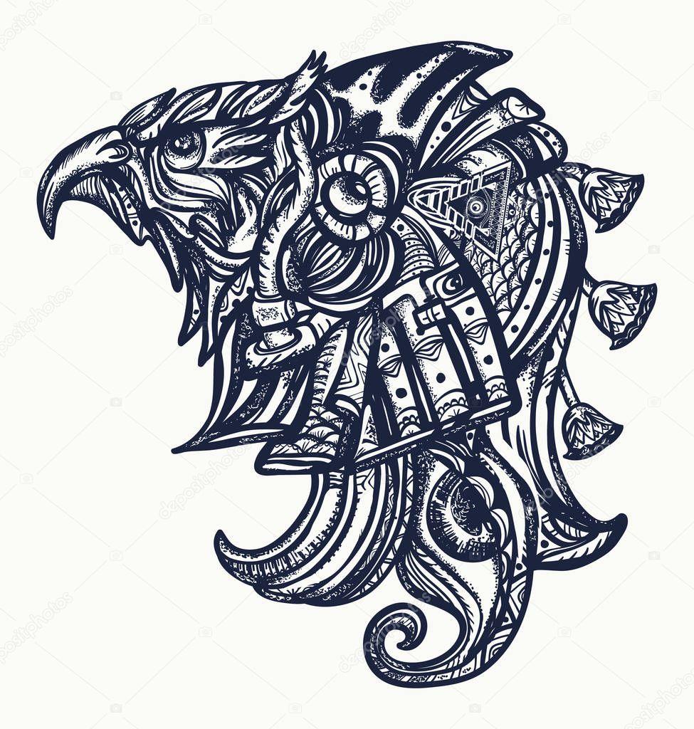 Starożytny Egipt Tatuaż I T Shirt Design Bogów Horusa Oko