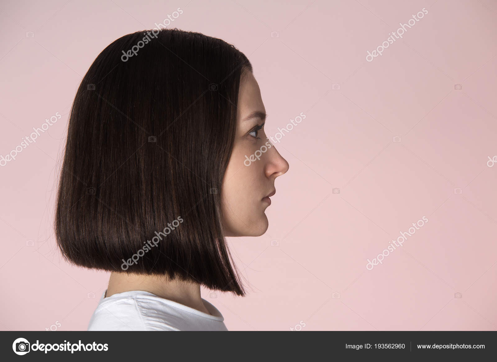 Girl With Blunt Bob Hairstyle Stock Photo C Alex Ugalek 193562960