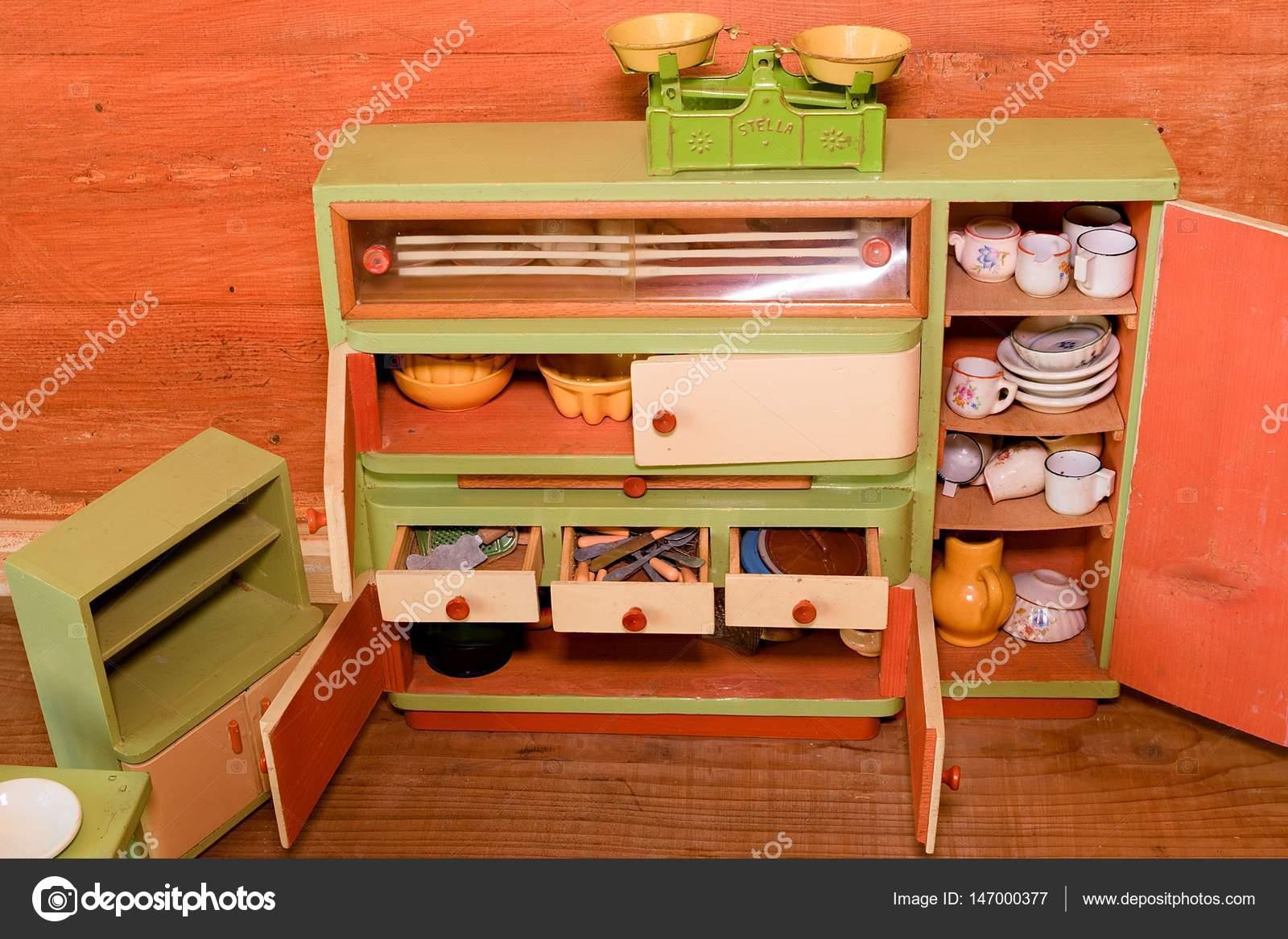 Giocattoli vintage per le ragazze cucina giocattolo di legno
