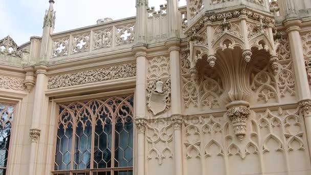 Palace - Chateau Lednice and chateau garden. Castle Lednice, UNESCO world heritage at South Moravia. 4K
