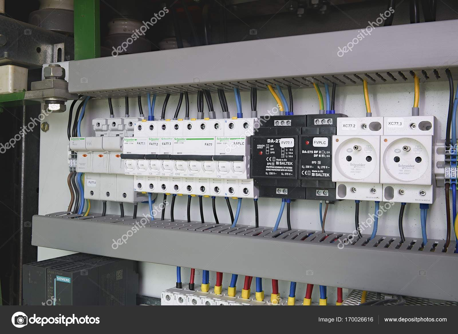 Image Shows Control Cubicle Schneider Electric Device And