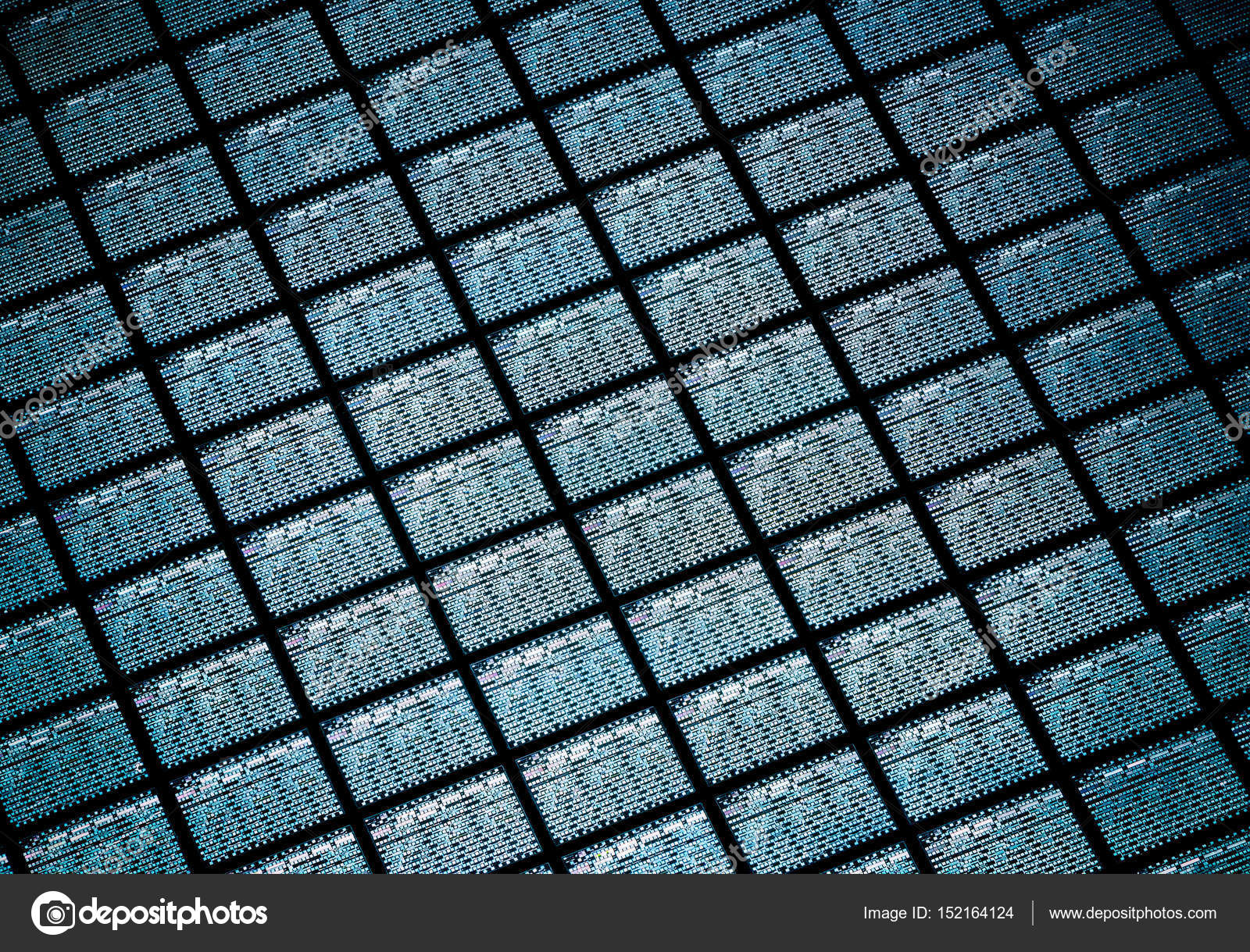 Detail of Silicon Wafer Containing Microchips — Stock Photo