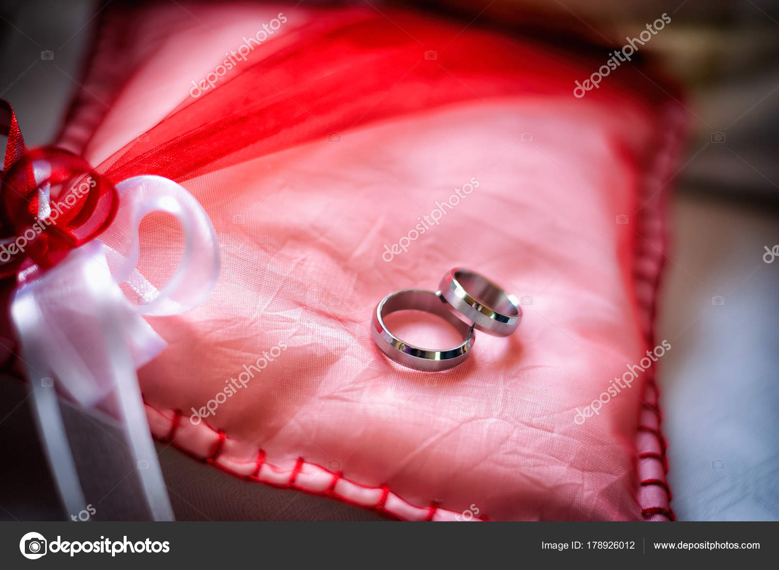 Wedding Rings Made White Gold — Stock Photo © blazinek28 #178926012
